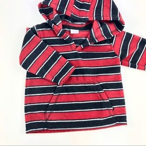 Baby boots striped sweater